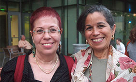 Nava Semel (left) and Camille Ovitz. Photo by Alyssa Ramirez