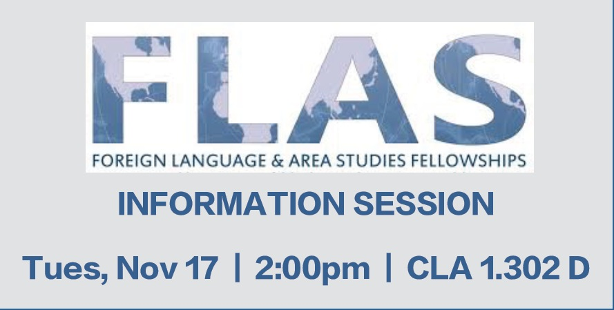 FLAS Info Session: November 17th