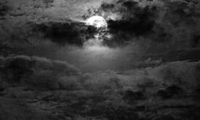 Full moon cloudy night on the Texas Gulf Coast