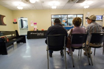 Planned Parenthood's waiting room in Waco, Texas.