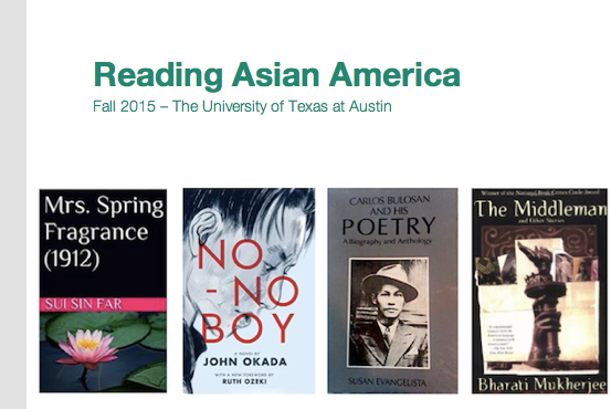 UT Student Blog: Reading Asian America