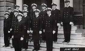 Navy ROTC members in 1943
