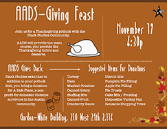 AADS-Giving is on November 19th at 6:30p.