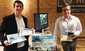 DiGiovanni and a SportLocker collaborator.