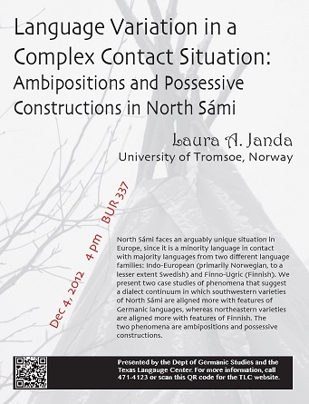 Language Variation in a Complex Contact Situation: Ambipositions and Possessive Constructions in North Sámi