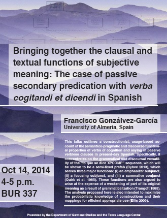 Bringing together the clausal and textual functions of subjective meaning: The case of passive secondary predication with