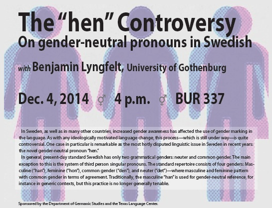 "The ""hen"" Controversy On gender-neutral pronouns in Swedish"
