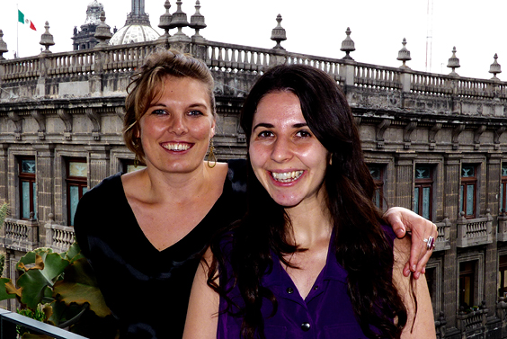 Chloe Ireton and Elizabeth O'Brien, in Mexico City, where both are currently conducting research