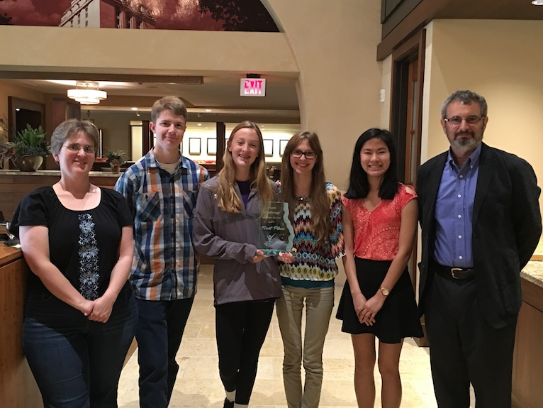 San Marcos High School Euro Challenge Team:  Hanna Davis, Silas Andrews, Edith Allmand and Aubrey Jaques (from left to right)