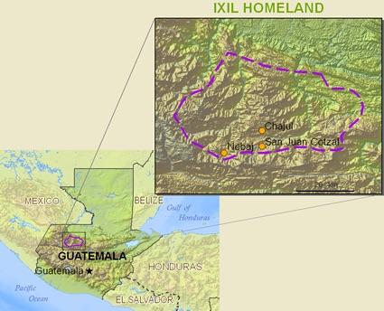 Ixil, an indigenous language spoken in Guatemala