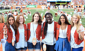 Nwora (third from right) with fellow Orange Jackets