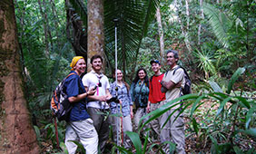 Tim Beach (right) and a team of student researchers.