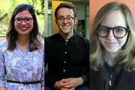 Andrea Clark, Zachary Stone, Dominica Whitesell: Dean's Dean's Distinguished Graduates