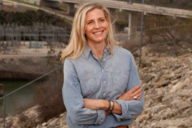 Prof. Erika Marie Bsumek. Photo by Kurt Weddle.