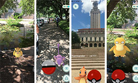 Pokémon spotted on campus, photo by UT news