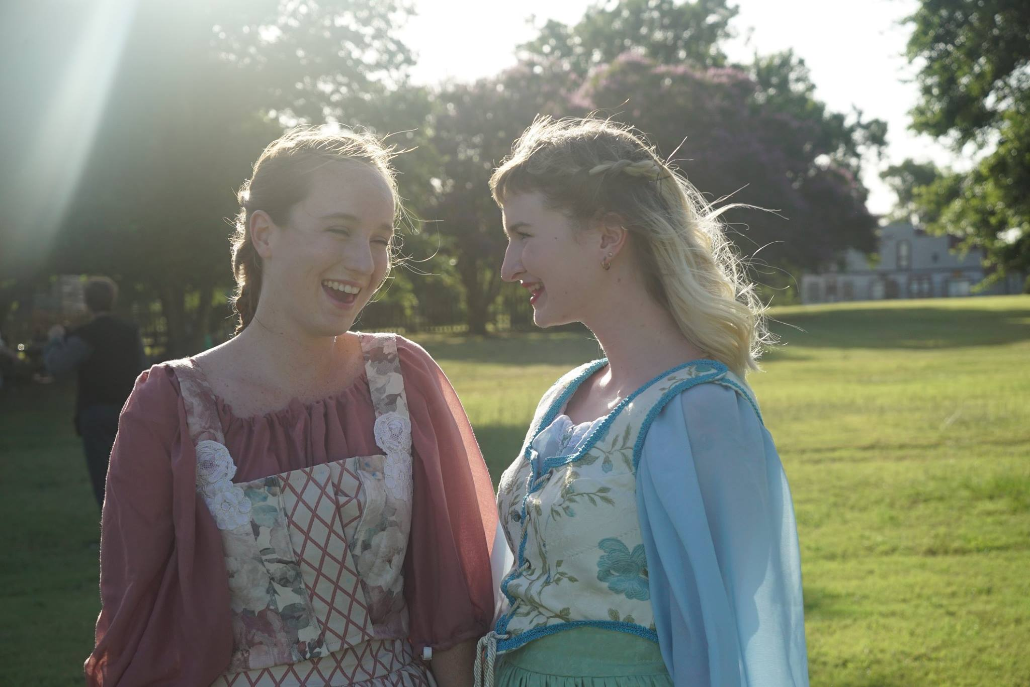 Elizabeth Hamm as Hero and Kendall DeBoer as Beatrice | photo by Lily Pipkin