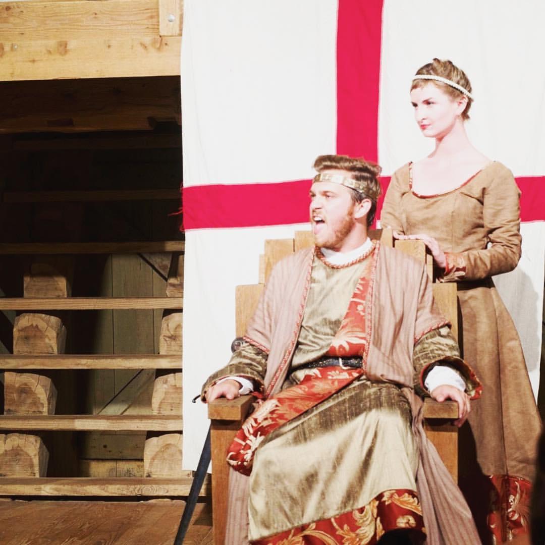 Kenneth Williams as King John and Kendall DeBoer as Queen Eleanor | photo by Renae Jackson