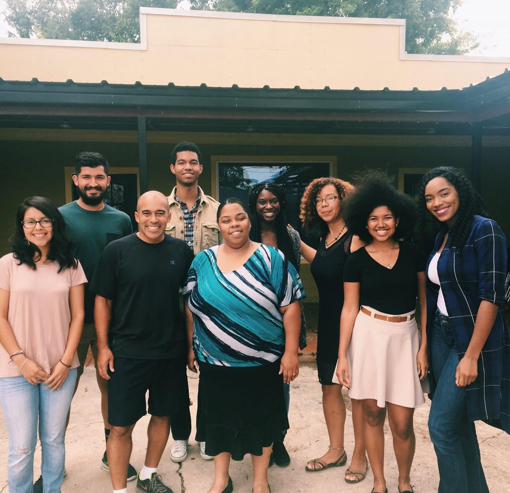 UT-Austin, Huston-Tillotson, and Texas State students serving as facilitators for ICUSP student programs.