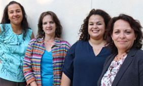 From left: Daisy Morales-Campos, Laura Esparza, Marisol McDaniel and Deborah Parra-Medina