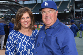Bobby Patton, Jr., and Sherri Patton. Photo by Jon SooHoo, Staff, Los Angelos Dodgers.