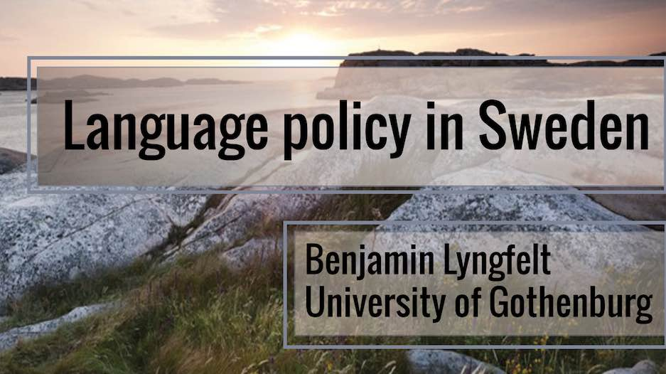 Prof. Lyngfelt discusses state impact on language in Sweden