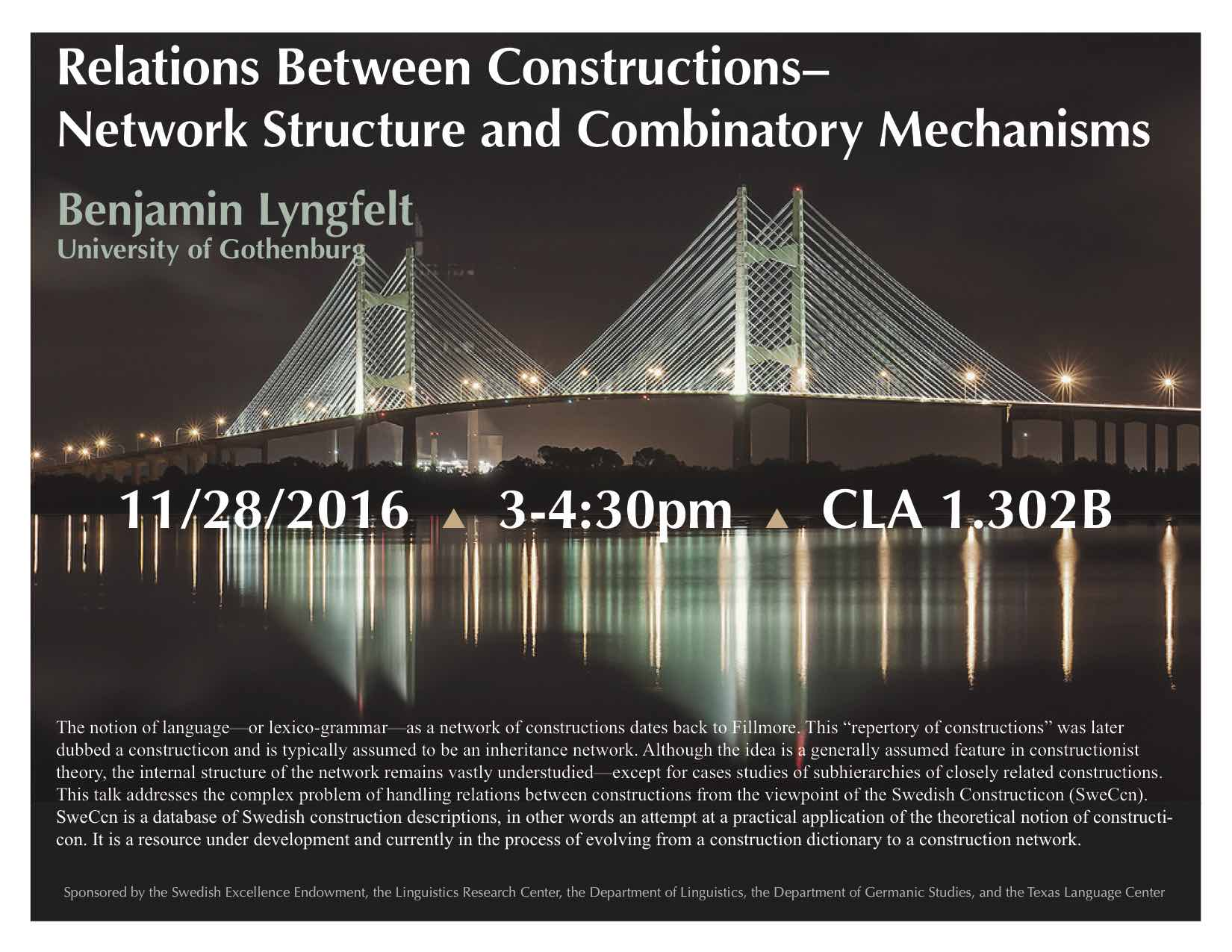 Prof. Lyngfelt discusses the Swedish Constructicon