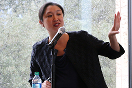 Panelist Dr. Denise Y. Ho, Yale University, presented