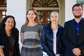 Prizewinners Amanda Faulkner, Katherine Rickert, Kathleen Telling, and Alberto Garcia.