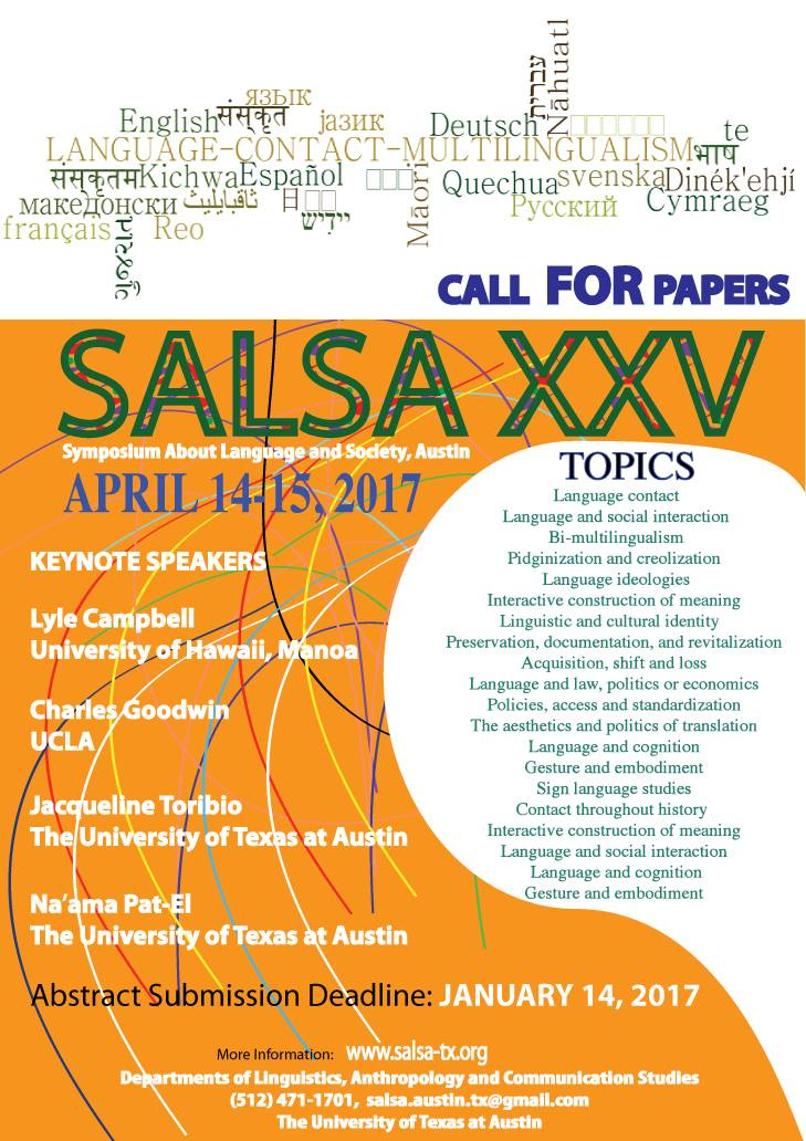SALSA announcement & call for papers