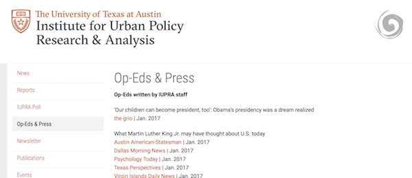 IUPRA's new Op-Eds and Press webpage