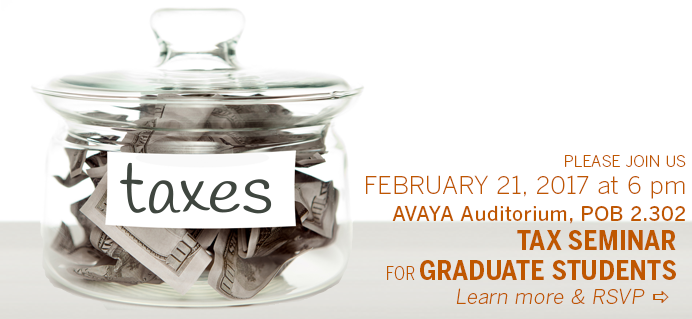 Grad Tax Workshop - February 21st