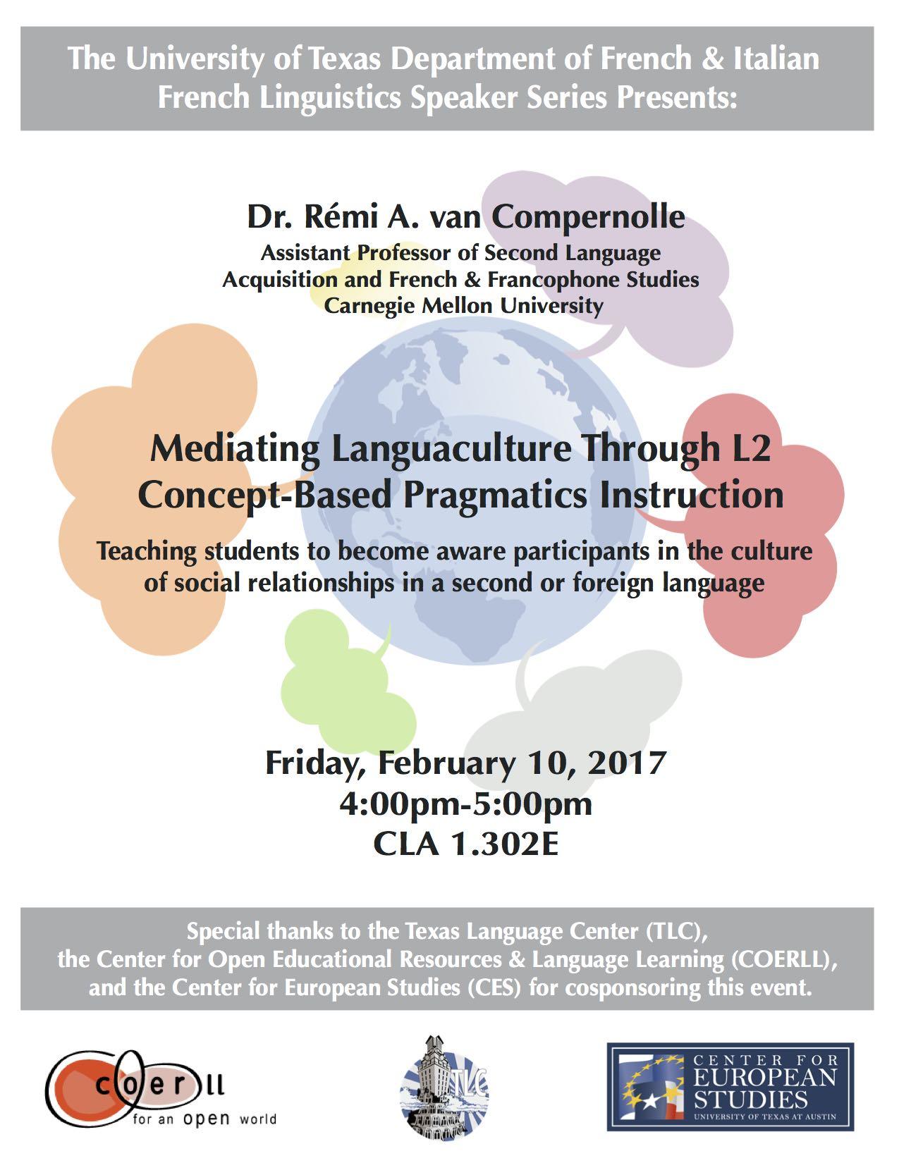 Dr. van Compernolle speaks on concept-based language instruction