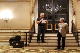 Andrew Sluyter (left) and Tim Beach (right) at the 2017 CLAG meeting