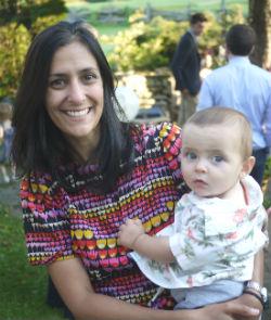 Caroline Faria and son Arlo