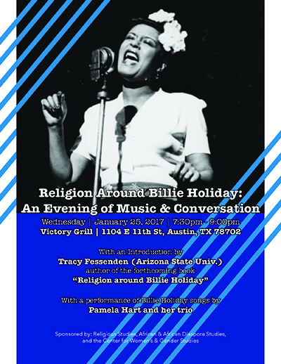 Religion Around Billie Holiday: An Evening of Music and Conversation