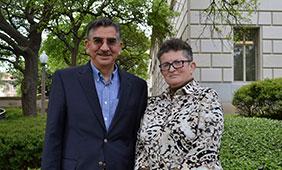 Richard Flores and Esther Raizen.
