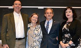 From left: David Laude, Liz Cullingford, Doug Bruster, Elizabeth Richmond-Garza