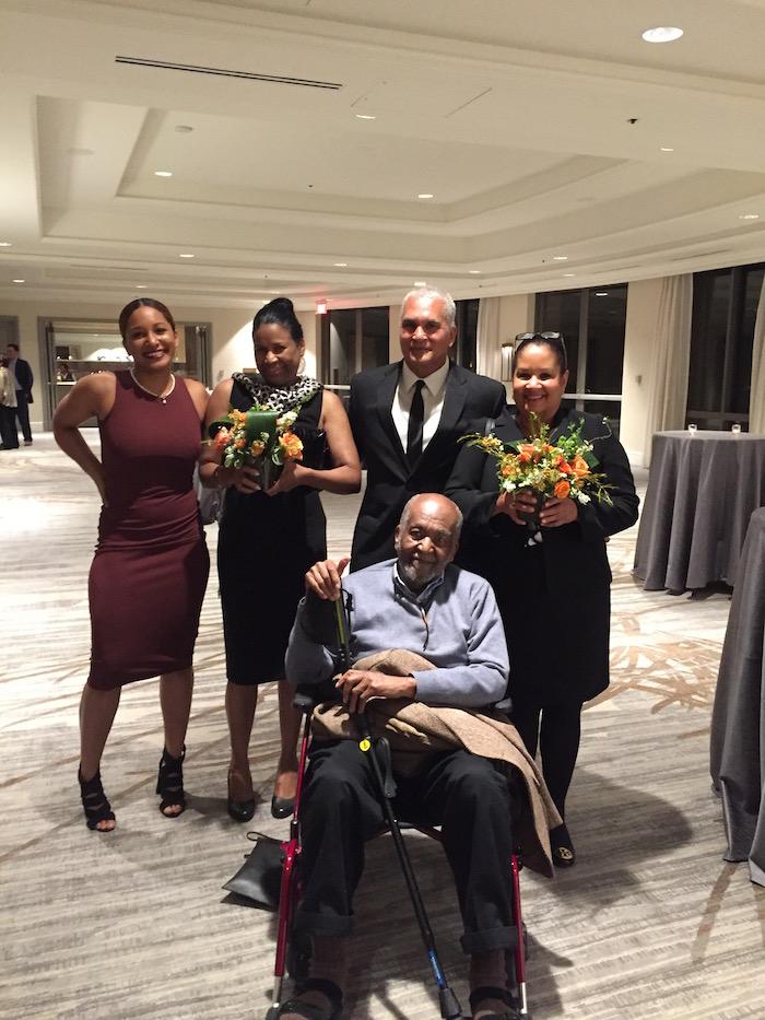 Dr. Gordon and family at the Pro Bene Meritis Award Ceremony