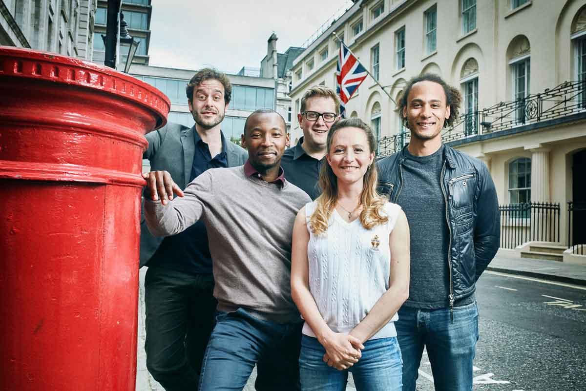 AFTLS cast: Dominic Gerrard, Wela Mbusi, Ben Eagle, Anna Wright, Peter Bray