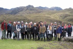 Maymester students study high elevation grasslands in Cajas National Park during the 2017 program.