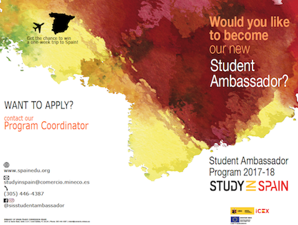Study in Spain Student Ambassador - Now Accepting Applications