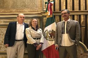 L-R: Symposium Presenters Profs. John McNeill (History & SFS, Georgetown U.), Sheryl Luzzadder-Beach & Timothy Beach (UT Austin, GRG/LLILAS) at the Mexican Cultural Institute, Washington D.C.