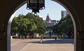 The UT Austin South Mall.