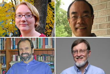 Counter clockwise from top left: Profs. Raby, Li, Hunt, and Wynn