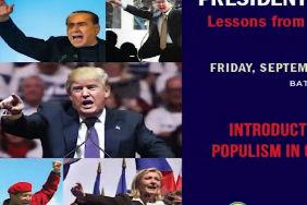 Populism Conference, September 22, 2017