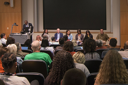 Discussion panel on free speech & higher education draws crowd