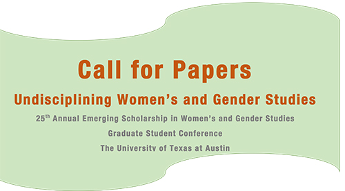 25th Annual Emerging Scholarship in Women's and Gender Studies: Call for Papers