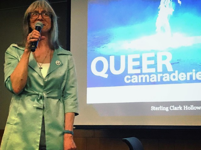 Dr. Ann Cvetkovich, Director of the LGBTQ Studies Program at UT, at the symposium