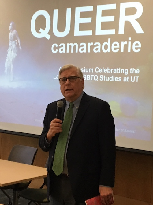 Dean Riehl Speaking at Queer Camaraderie Jan. 26, 2018