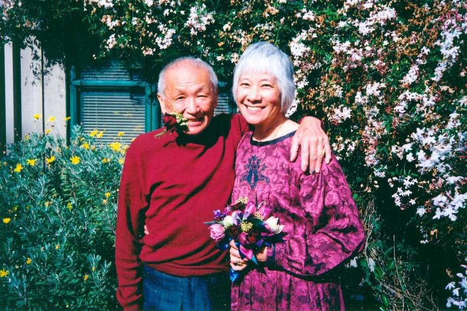 Eddie Fung and Judy Yung celebrate their wedding on April 1, 2003.